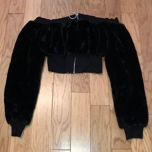 May Pink™️ Faux Fur Cropped Jacket